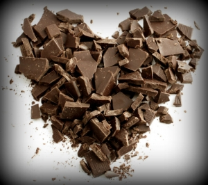 dark chocolate heart